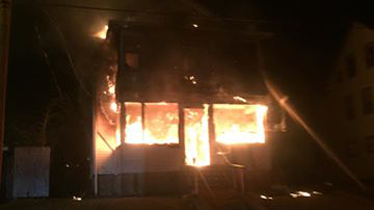 Fire broke out at a home on Lawndale Avenue in Bristol Saturday night.