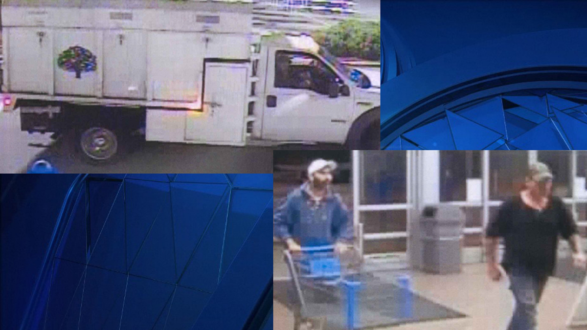Police say the suspects pictured above stole three televisions from the Brooklyn Walmart.
