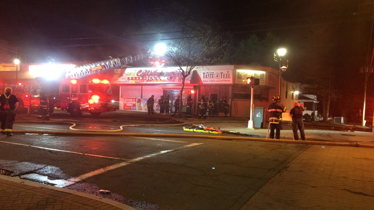 Taste and Tell Soul Food and Catering on Blue Hills Avenue in Hartford was heavily damaged by a fire early Sunday morning.