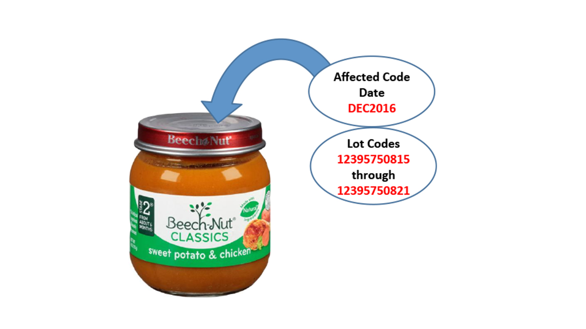 Beech-Nut is recalling some jars of a certain type of baby food. Here, Beech-Nut jars are shown here alongside jars of Gerber baby food, which is not subject to recall.
