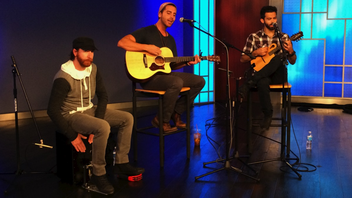 Connecticut-based band Beach Avenue visited the NBC Connecticut studio on July 1, 2014 to play some of their songs and talk about their appearance on NBC's