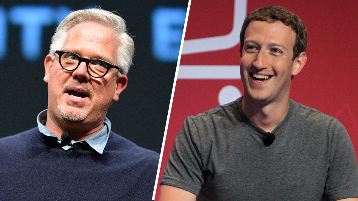 Radio and television personality Glenn Beck, left, and founder and CEO of Facebook Mark Zuckerberg.