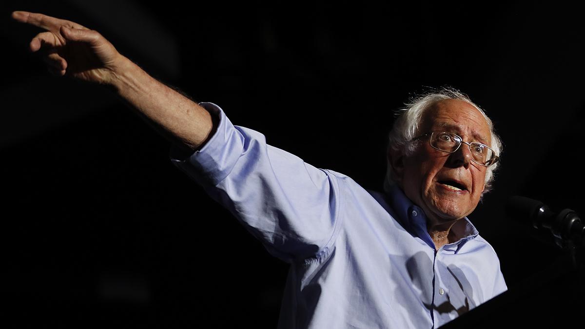File Photo—Sen. Bernie Sanders, I-Vt., speaks during a
