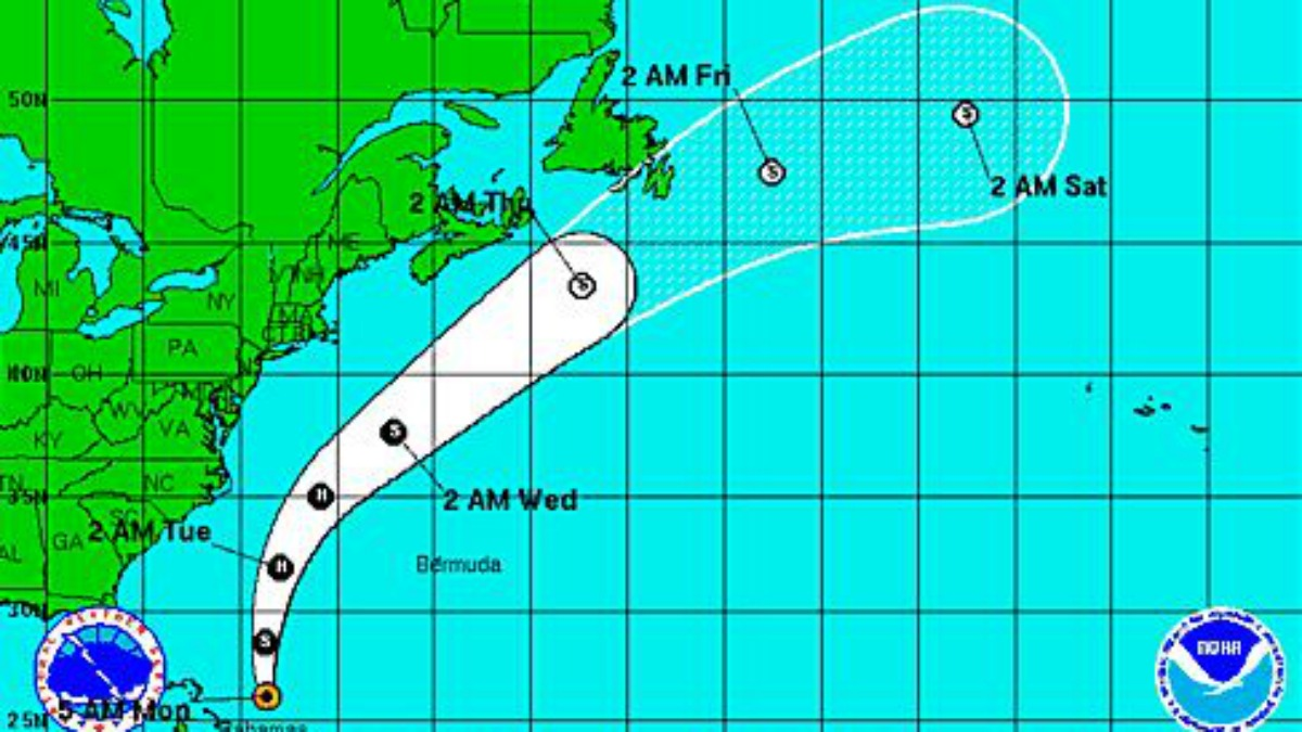Tropical Storm Bertha is expected to move out of the eastern part of the Bahamas Monday and turn north with potential to become a hurricane late Monday evening.