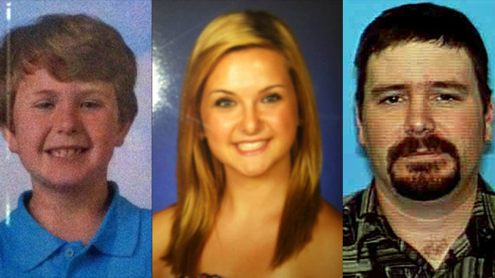 (L-R) Ethan Anderson, Hannah Anderson and James Lee DiMaggio are the subjects of a nationwide Amber Alert.