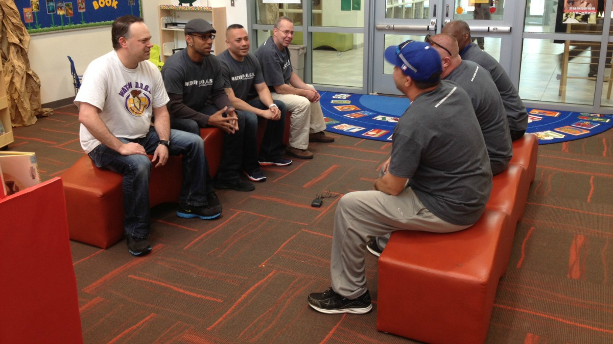 These Bristol dads are helping out in their kids' school to bring positive male influence to the classroom.