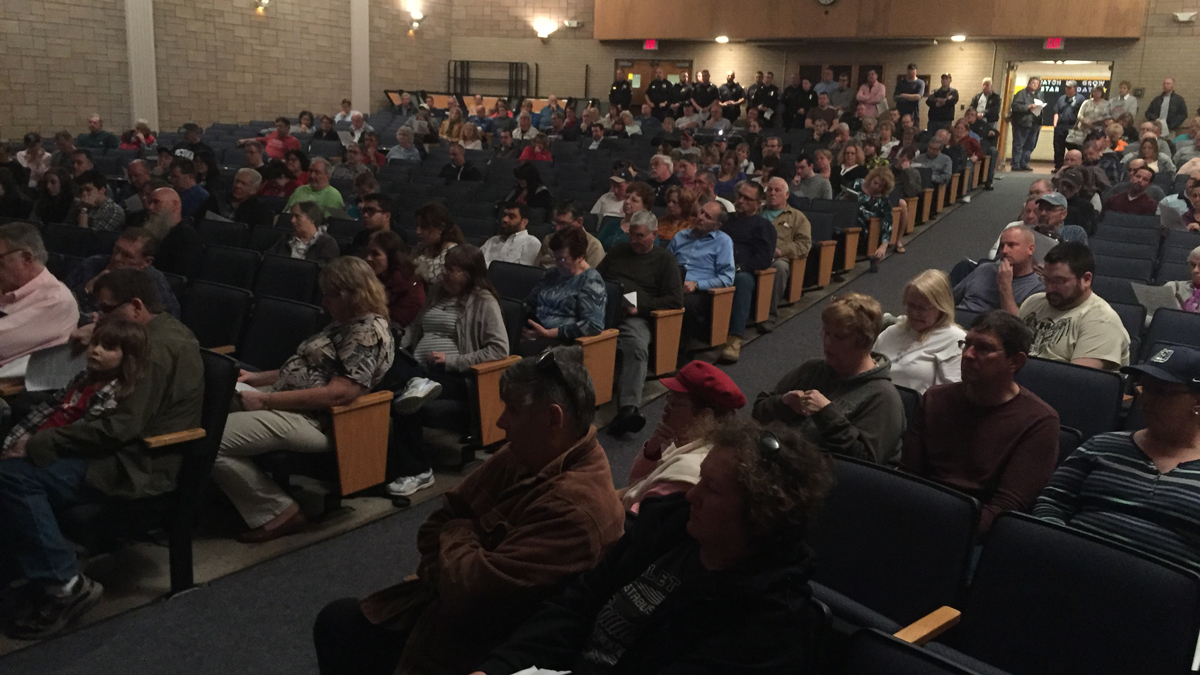 East Windsor town officials held a special meeting Saturday to vote on a casino development agreement.