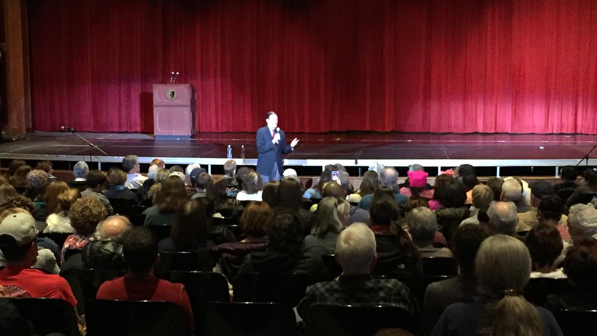 Senator Richard Blumenthal (D-Conn.) lead a town hall event at CCSU Sunday where Connecticut residents voiced concerns about President Donald Trump.