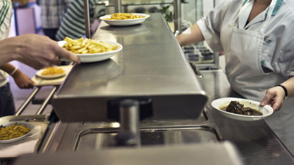 A school cafeteria is pictured in this file photo.