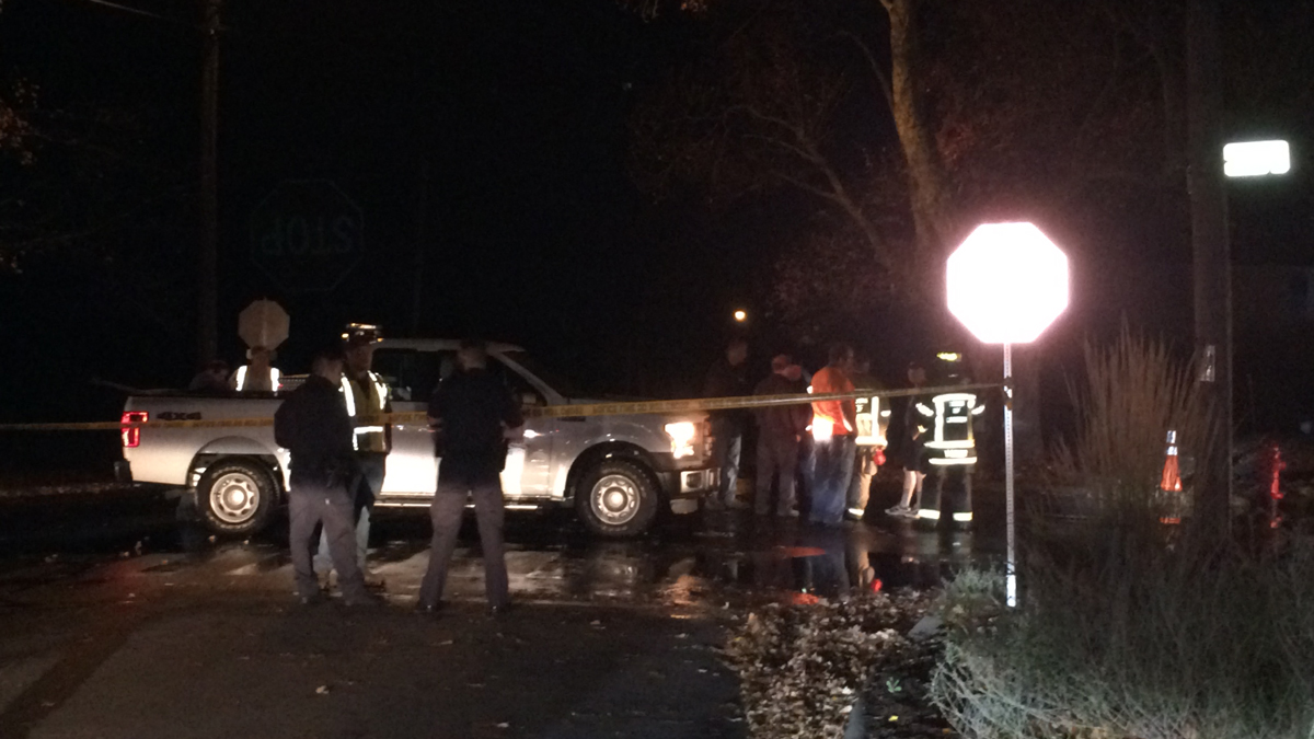 Crews on scene at a water main break on Dyer Avenue in Canton.