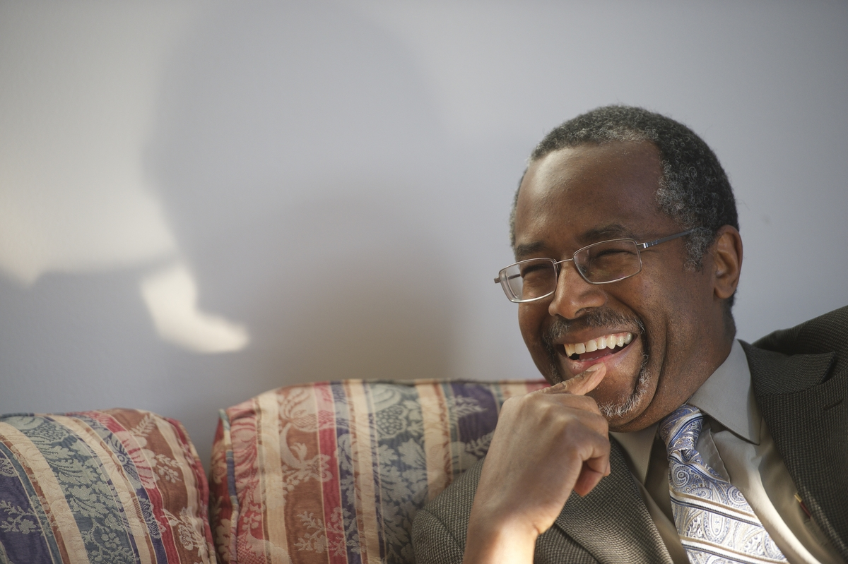 Dr. Benjamin Carson photographed at his residence in Upperco, Maryland on November 27, 2014.