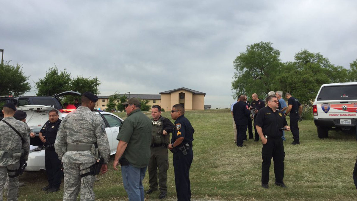 Photo from Bexar County Sheriff of scene at Lackland AFB