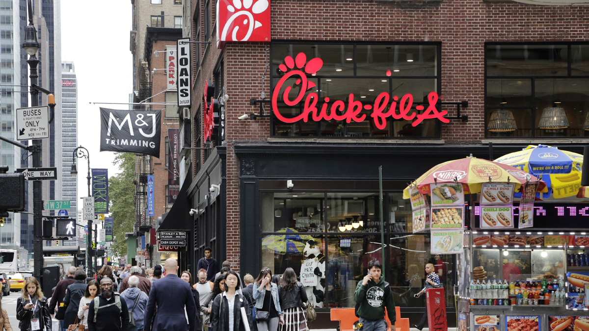 Herald Square's new Chick-Fil-A restaurant.