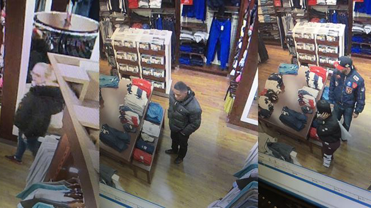 Clinton police said the suspects pictured above all worked together to steal $3,000 worth of merchandise from Clinton Crossings.