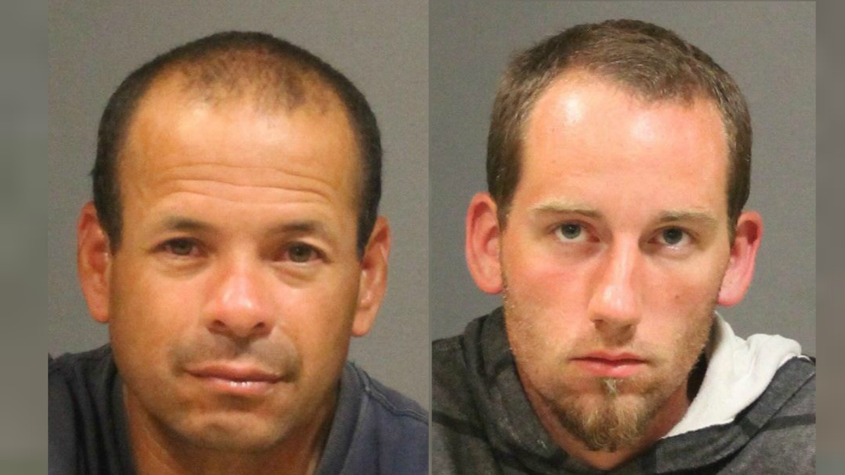 Police arrested two men caught burglarizing a home on Brace Road in West Hartford on the 4th of July.