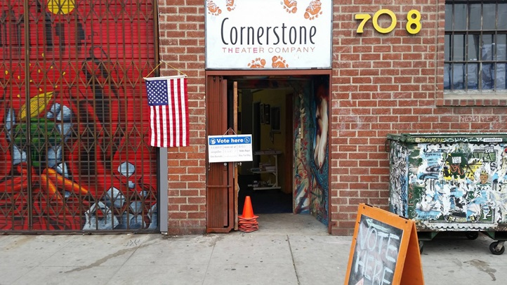 A couple of polling places, like the one at Cornerstone Theater Company, will offer relaxation or art-making opportunities to voters on Tuesday, Nov. 8.