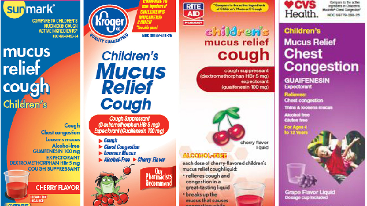 Some of the children's cough medicine brands being recalled by Perrigo.