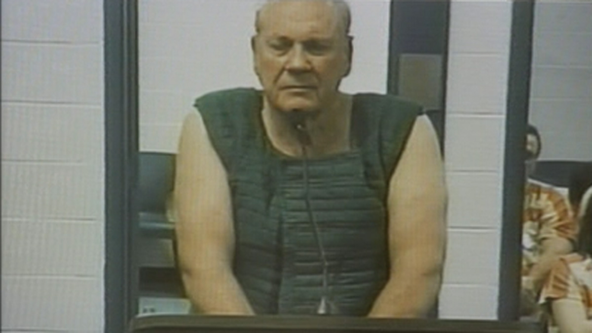 Curtis Reeves Jr., 71, makes his first court appearance via a video link from jail on Tuesday, Jan. 14, 2014.