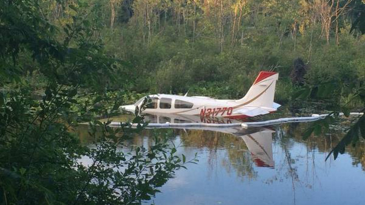 Three people were taken to the hospital after a Cessna 172S crashed after taking off at the Danbury Municipal Airport Sunday.