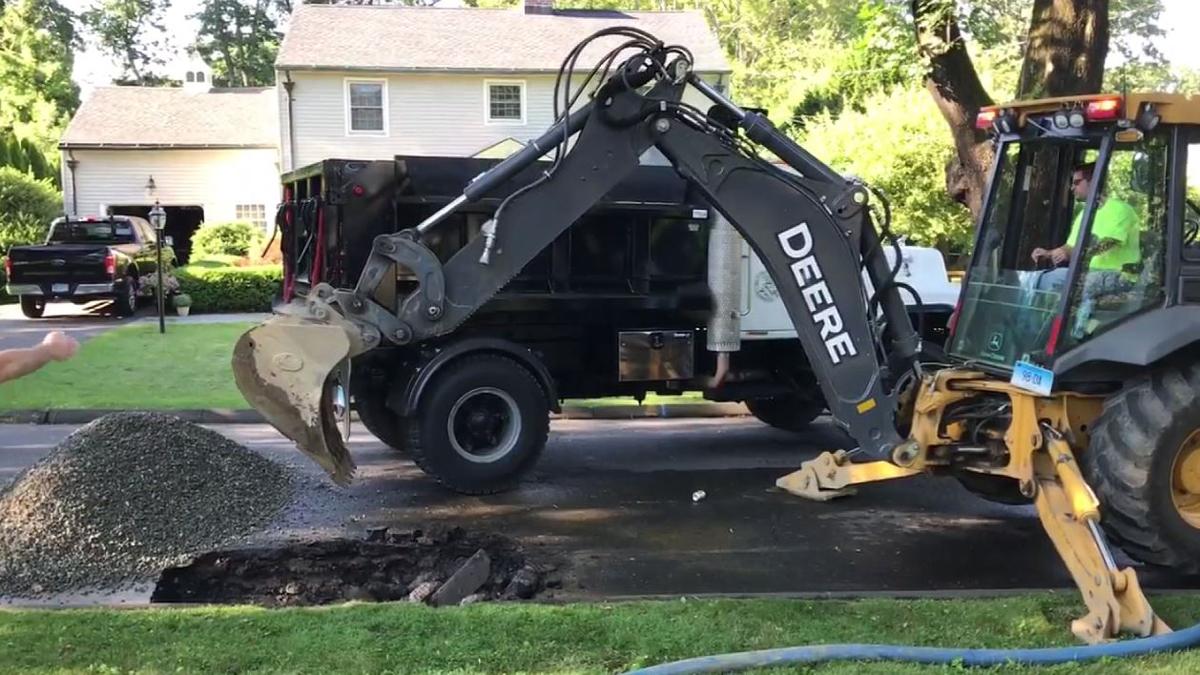 A water main break on Oak Ridge Avenue in Danbury affected service to customers in the area Wednesday morning.