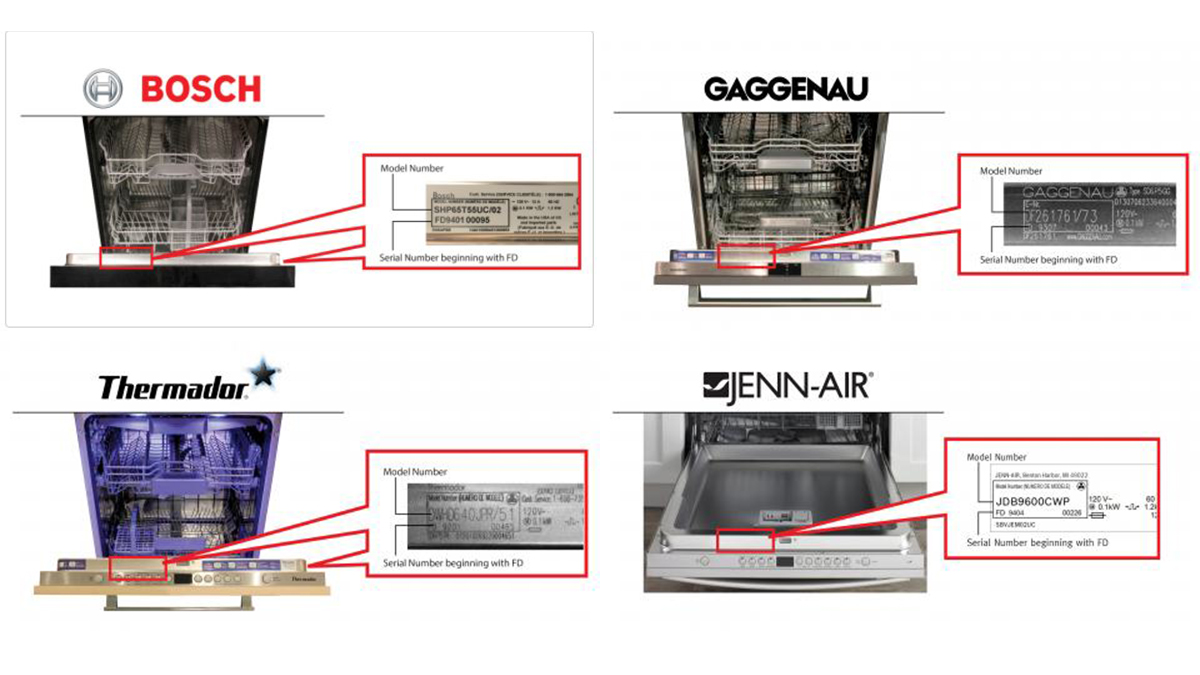 Over 400,000 BSH Home Appliances dishwashers are being recalled after reports of power cords overheating and causing fires.