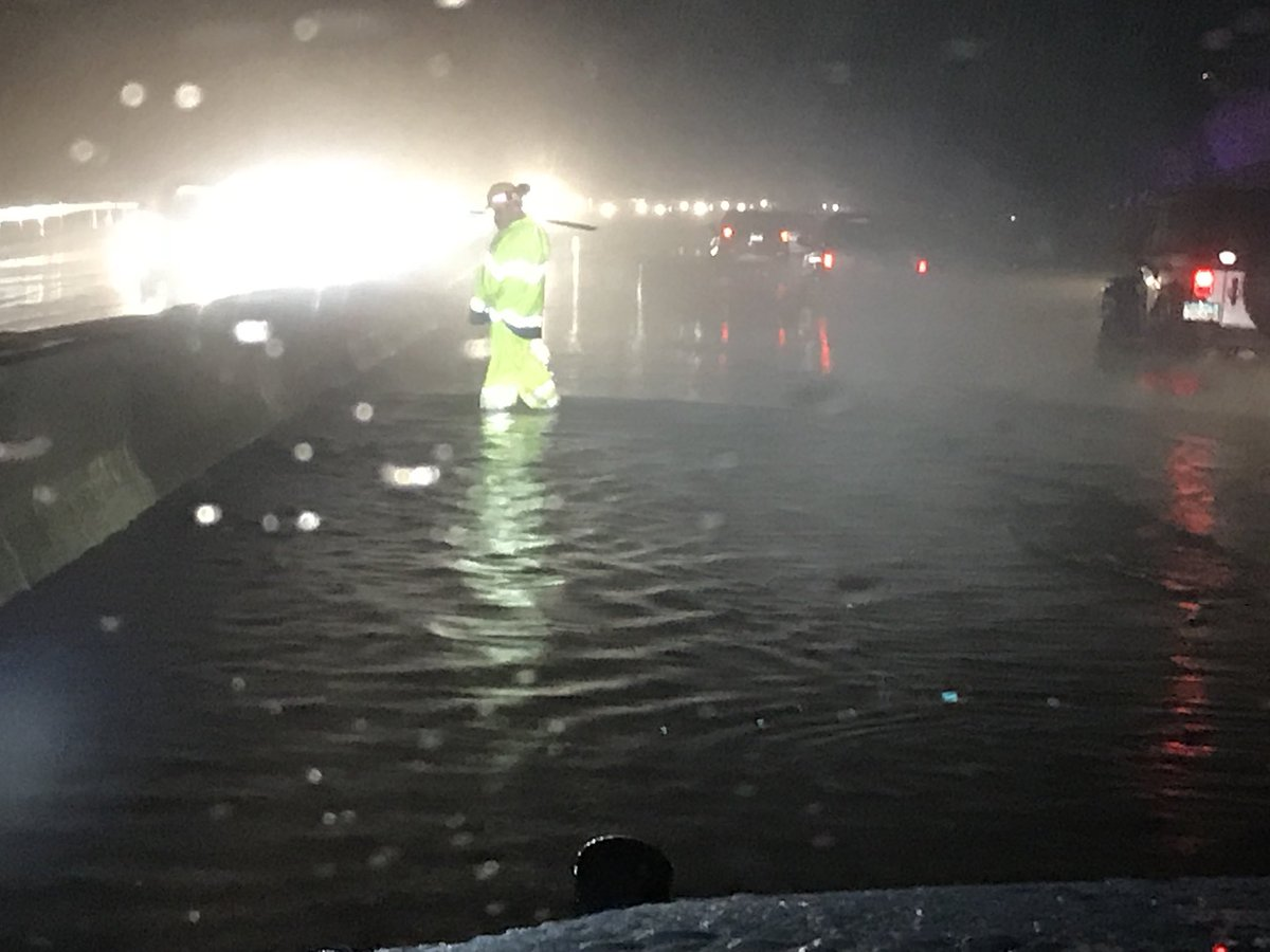 Left Lane on Route 8 in Seymour Closed Due to Flooding
