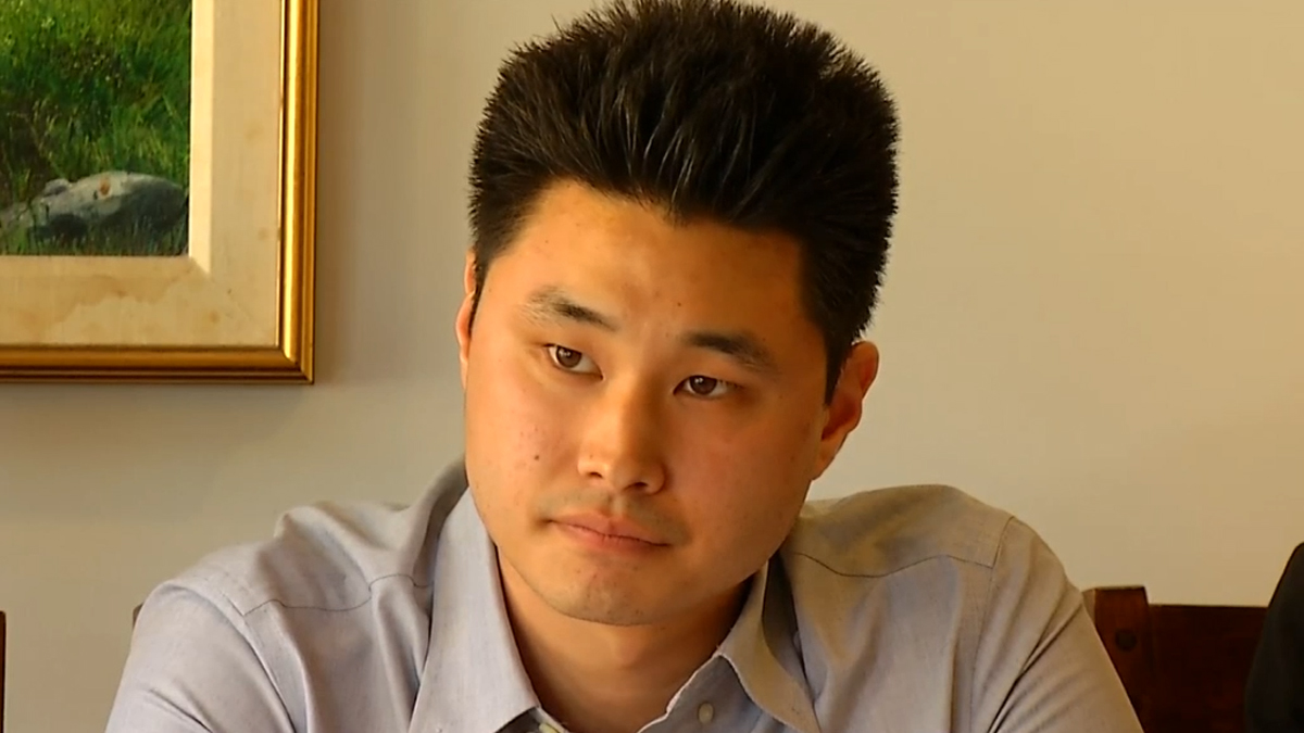 Daniel Chong speaks at a news briefing on July 10, 2014.