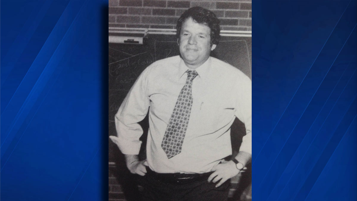 Dennis Hastert seen in a 1981 Yorkville High School yearbook photo. Hastert was a teacher and wrestling coach at the school from 1965 to 1981.