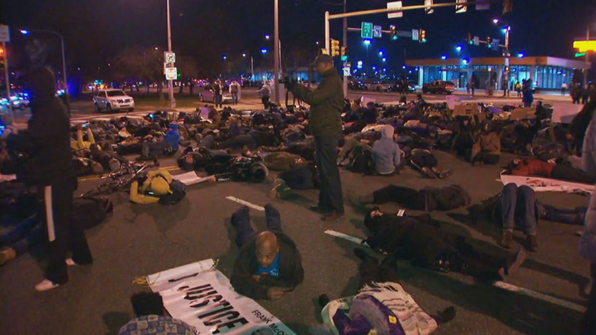 "Clergy leaders with Philadelphia Organized to Witness Empower & Rebuild (POWER) called for a ""Solidarity Die-In"" which took place at the northeast corner of Broad and Pattison Streets."