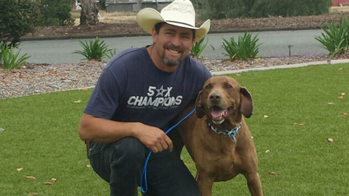 Ricardo Dominguez was reunited with Brownie, who disappeared several years ago from his horse ranch in New Mexico.
