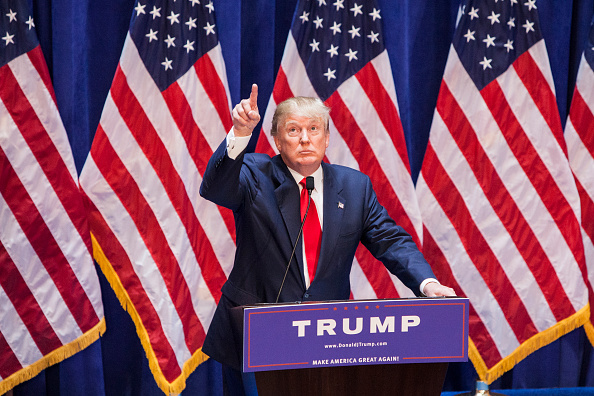 Donald Trump announces his candidacy for the U.S. presidency at Trump Tower on June 16, 2015 in New York City.