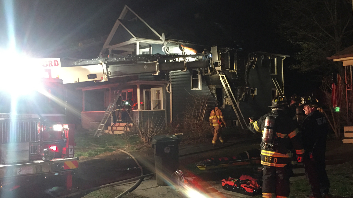 A 10-year-old-boy and a 19-year-old man were rescued from a house fire on Saunders Street in East Hartford overnight.