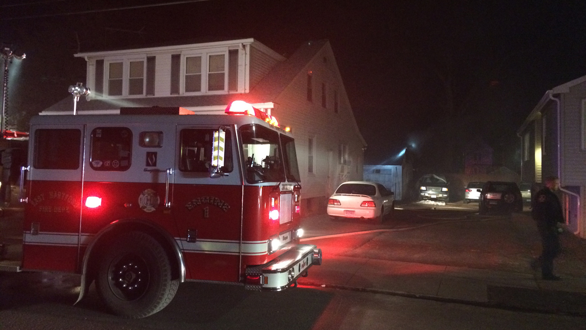 Residents at 52 Phelps Street in East Hartford were evacuated overnight Sunday because of a shed fire that spread to the garage.