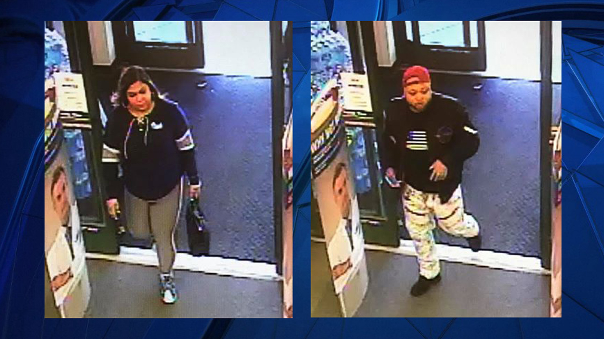 The suspects pictured above are accused of stealing makeup products from the Rite Aid in East Lyme.