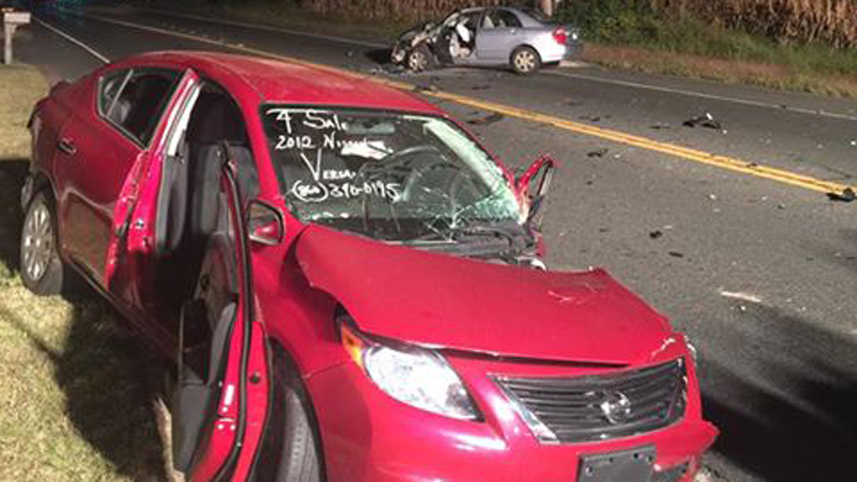This crash on Route 5 in East Windsor occurred on Tuesday, Sept. 20, 2016 and sent four people to the hospital.