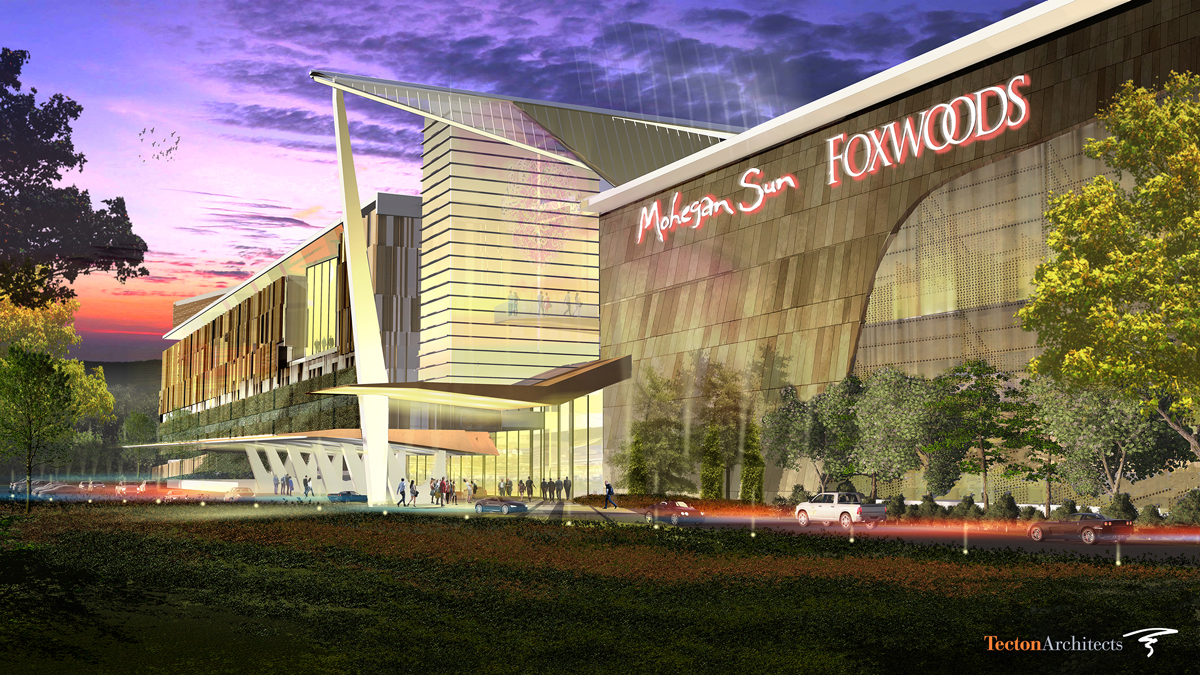 A rendering of the proposed East Windsor casino, which would be located off I-91 at the site of the former Showcase Cinemas