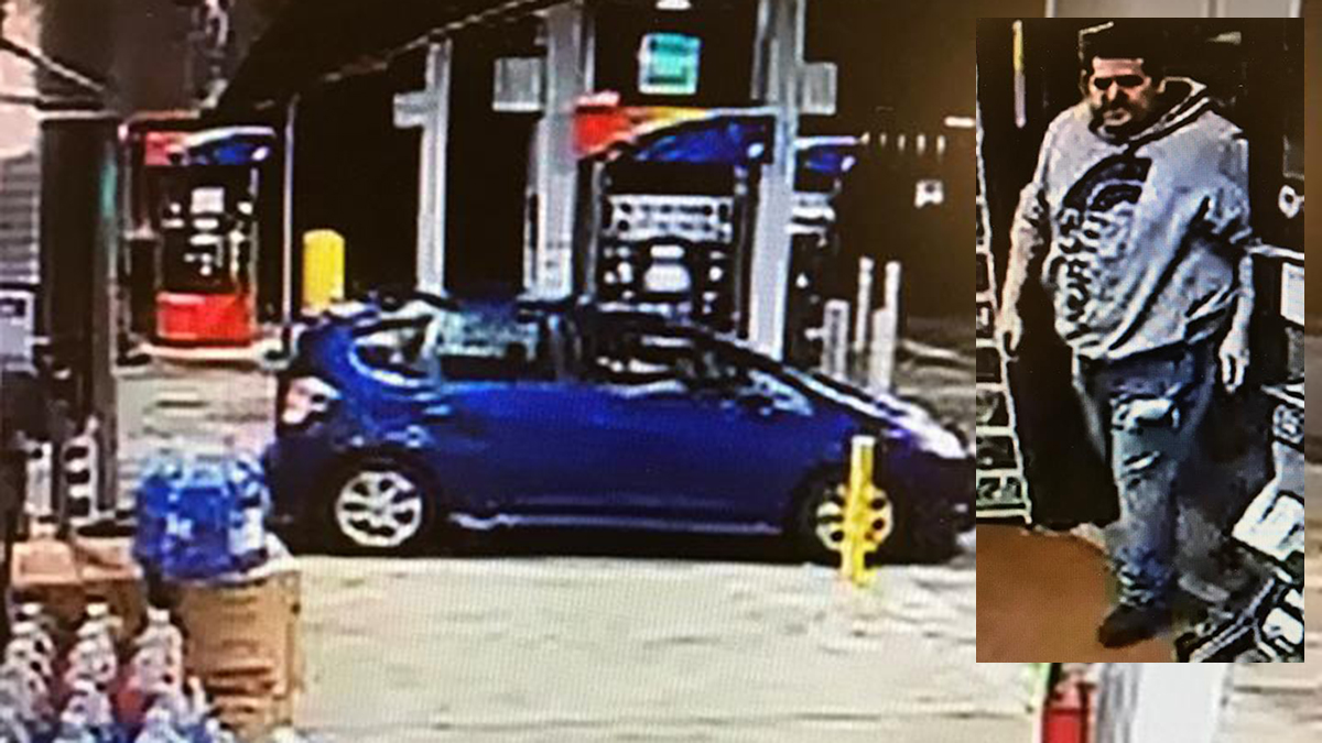 East Windsor police say the suspect pictured above stole cigarettes from the Sunoco on Bridge Street Saturday night then fled in the vehicle pictured.
