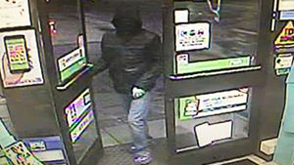 East Windsor police say the suspect pictured above robbed the 7-Eleven on South Main Street at gunpoint early Monday morning.