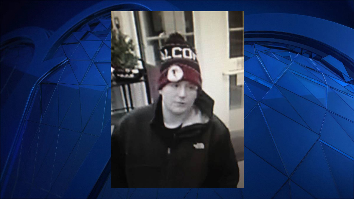 East Windsor police said the suspect pictured above stole a car from the Mercury Fuel gas station on South Main Street Friday.