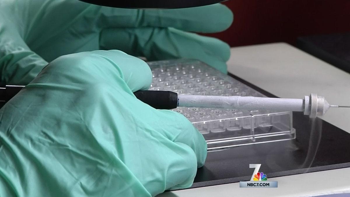 Ebola antibodies are heading to San Diego for analysis.