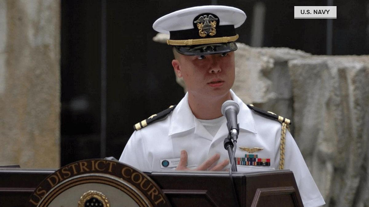 Lt. Cmdr. Edward Lin.
