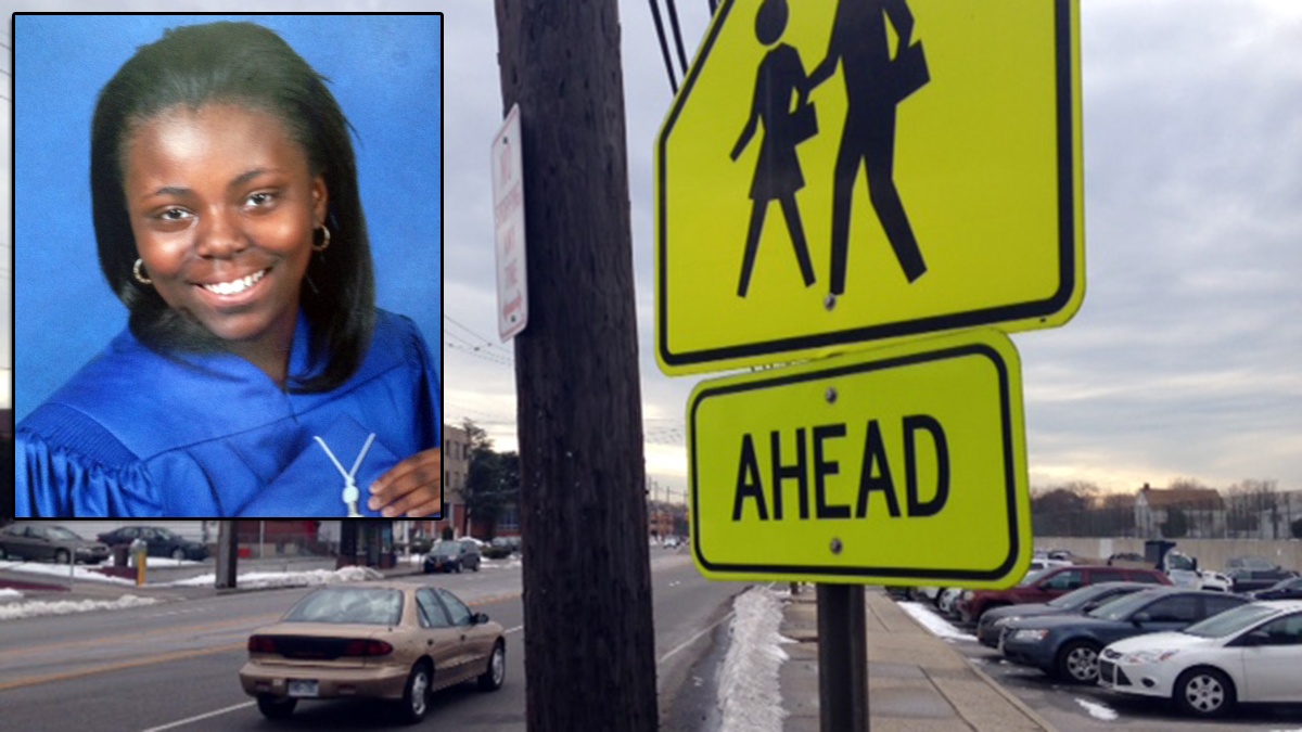 Gabrielle Johnson, 12, was walking to school with her twin sister on Long Island when she was struck by a car and killed.