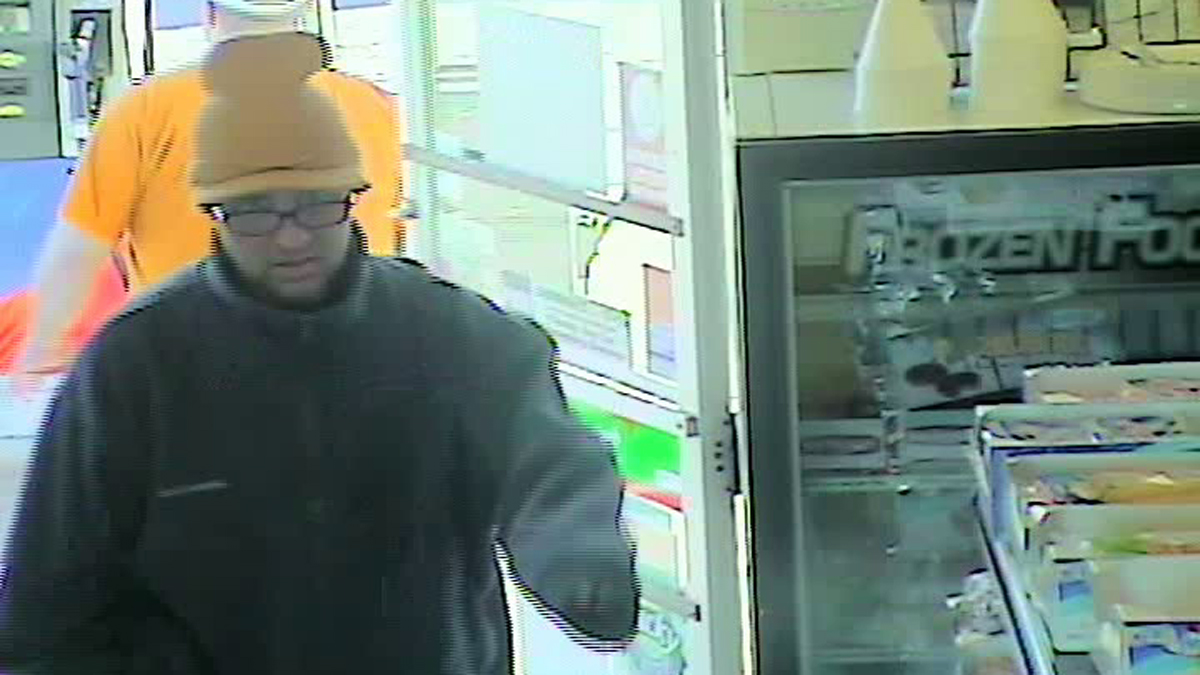 Enfield police allege that the suspect pictured above robbed the Sunoco Gas Station at 600 Enfield St. at knifepoint Saturday.