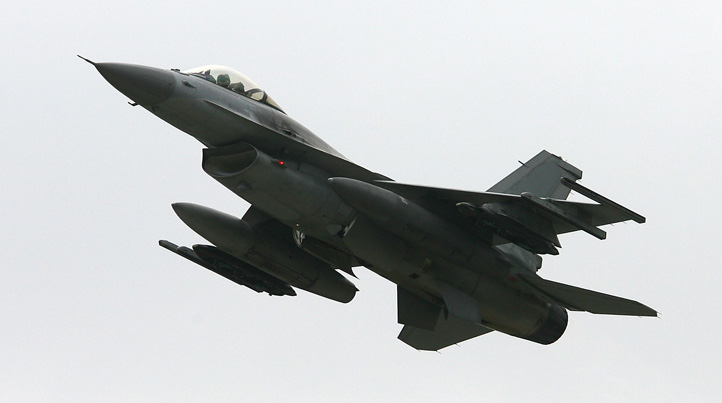 File photo: A F-16 takes off during a South Korea and US Air Force combined training exercise