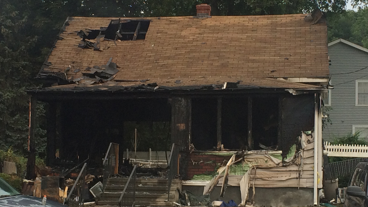 One person is dead and two hospitalized after a fire ripped through a home on Seltsam Road in Bridgeport Sunday morning.