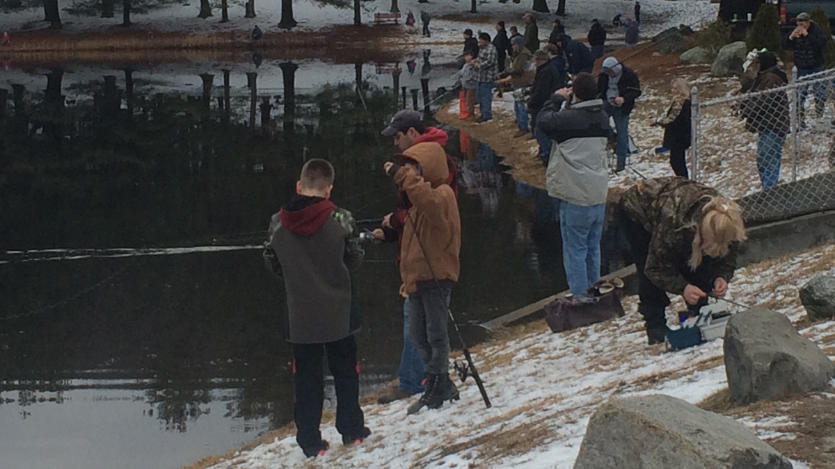Dozens turned out for the annual Fish for a Harley tournament in Stafford Springs Sunday. The Connecticut Chapter of the National Federation of the Blind will benefit from the proceeds of this event.