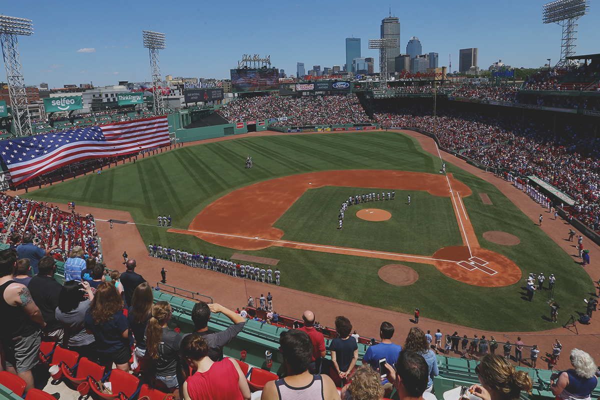 BOSTON, MA - JULY 04: A general view of Fenway Park before the game between the Boston Red Sox and the Texas Rangers at Fenway Park on July 4, 2016 in Boston, Massachusetts. (Photo by Maddie Meyer/Getty Images)