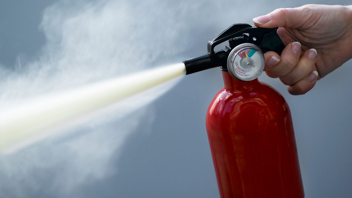 A fire extinguisher is pictured in this file photo.
