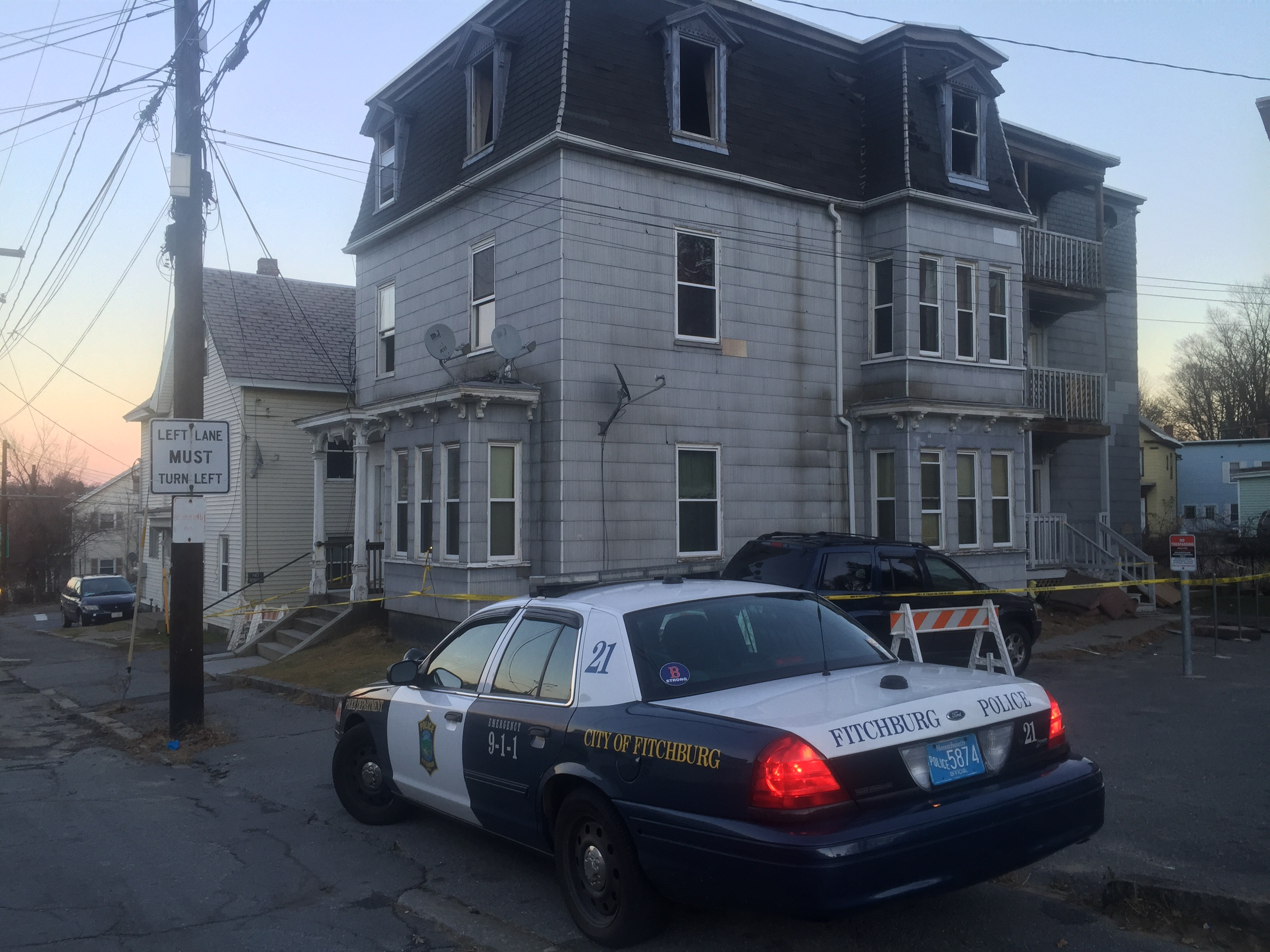 The scene of the fatal Fitchburg fire