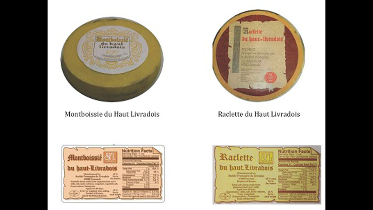 Two Haut Livradois brand cheese are being recalled for Salmonella contamination.